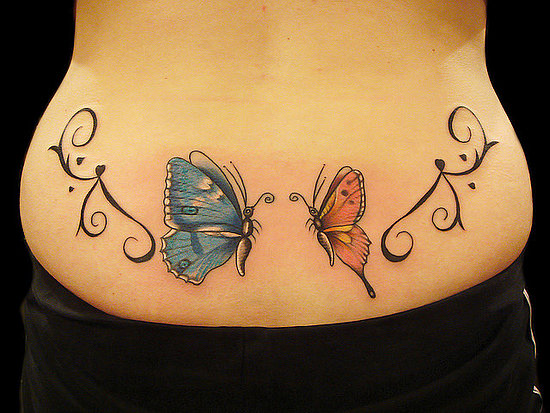 Vine And Butterfly Moon Tattoo For Women photo - 2