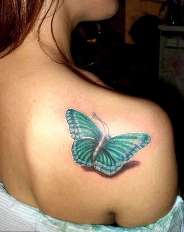 What A 3D Butterfly Tattoo! photo - 2