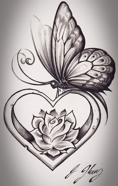 Winged Love Heart Tattoo With Crown On Wrist photo - 2