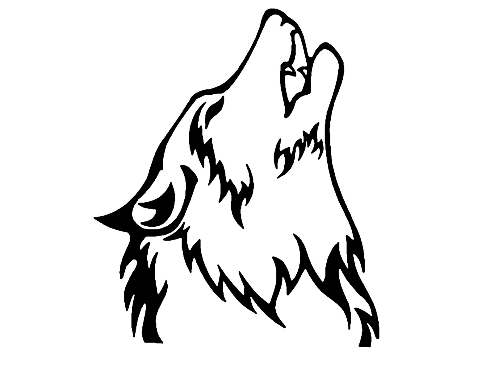 Wolf Howling At Moon Tattoo photo - 1