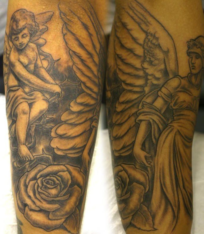 Wonderful Angel Tattoo Design photo - 3