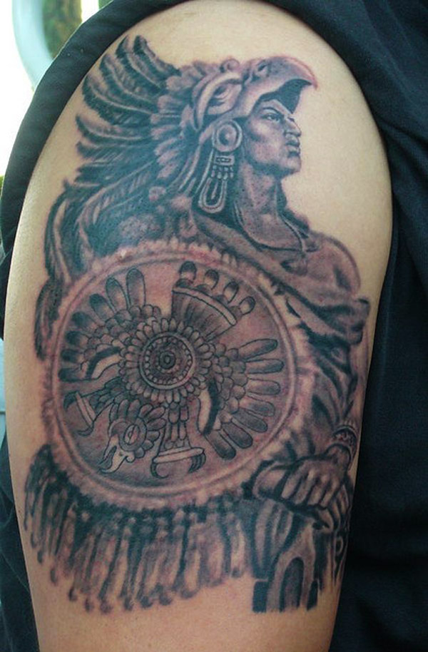 Wonderful Aztec Warrior Tattoo For Biceps photo - 1