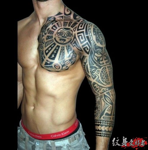 Wonderful Aztec Warrior Tattoo For Biceps photo - 2