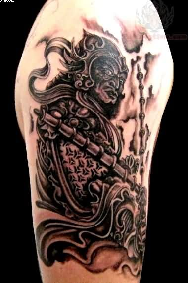 Wonderful Aztec Warrior Tattoo For Biceps photo - 3