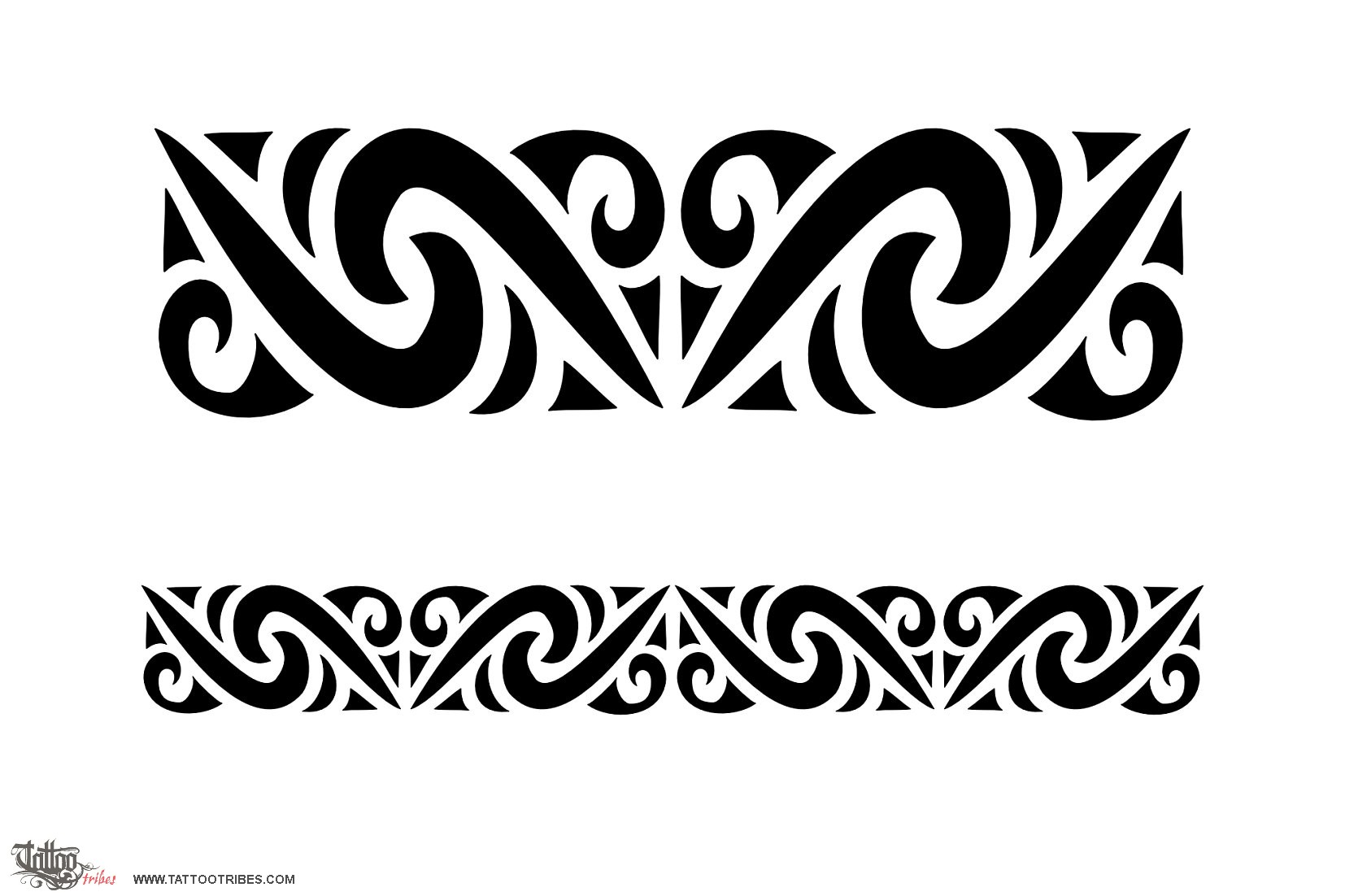 Wonderful Tribal Armband Tattoos photo - 2