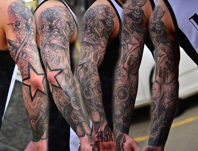 World war plane sleeve tattoos in 2017 real photo for Japanese war tattoos